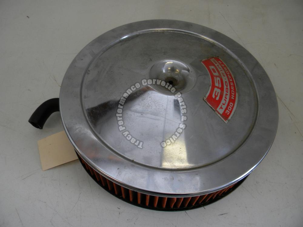 1969-1970 Corvette Used Survivor 6423272 350 Open Air Cleaner Assembly, Base Lid