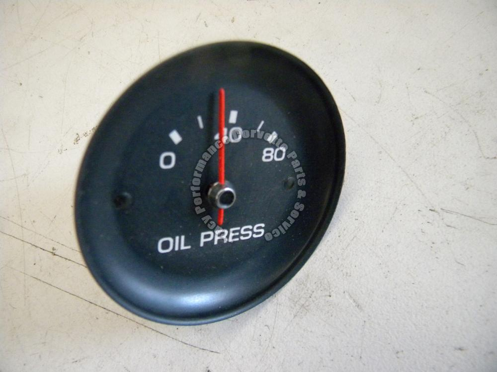 1982 Corvette Gauges : Corvette only rare nos oil pressure gauge