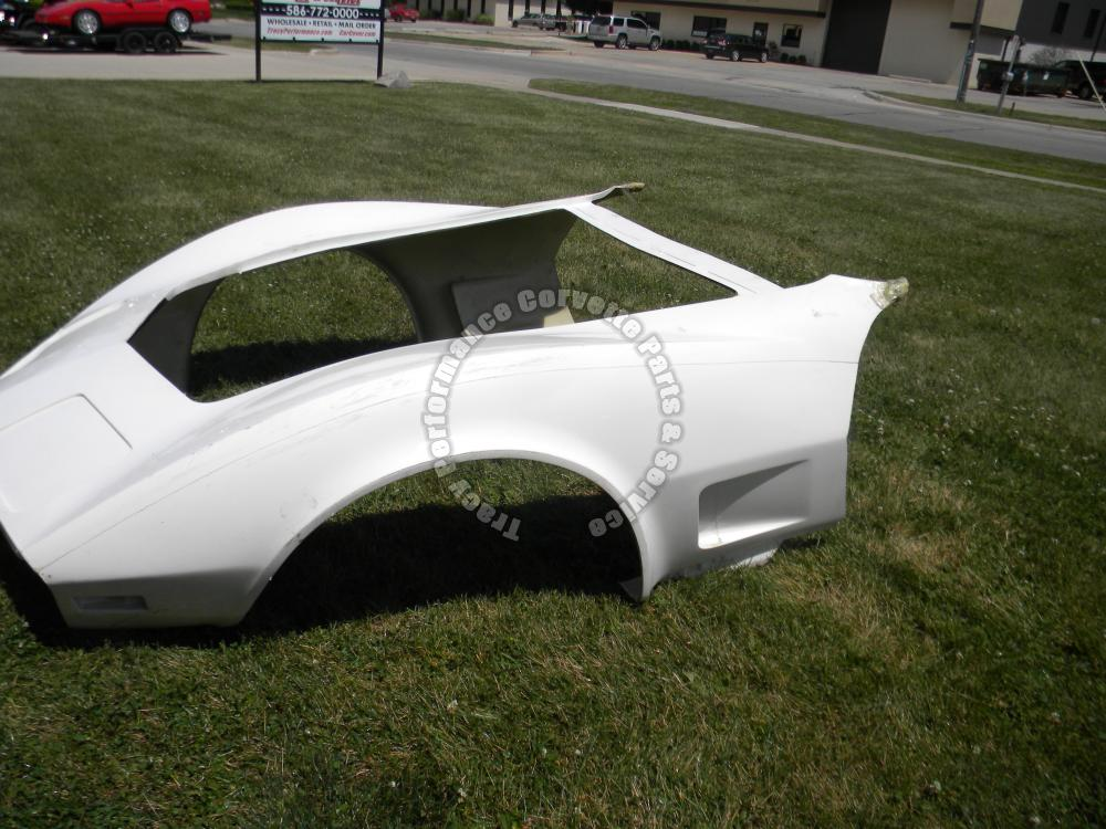 1980-1982 Corvette New 1 Piece HLU Fiberglass Front End Body