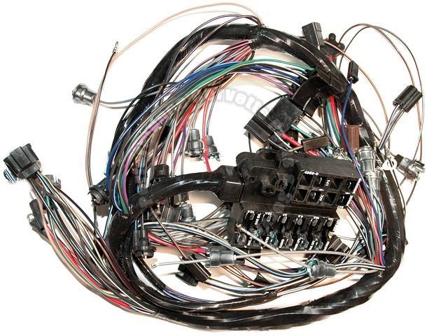 1965 corvette new repro dash ip wiring harness w/bu lamps usa made