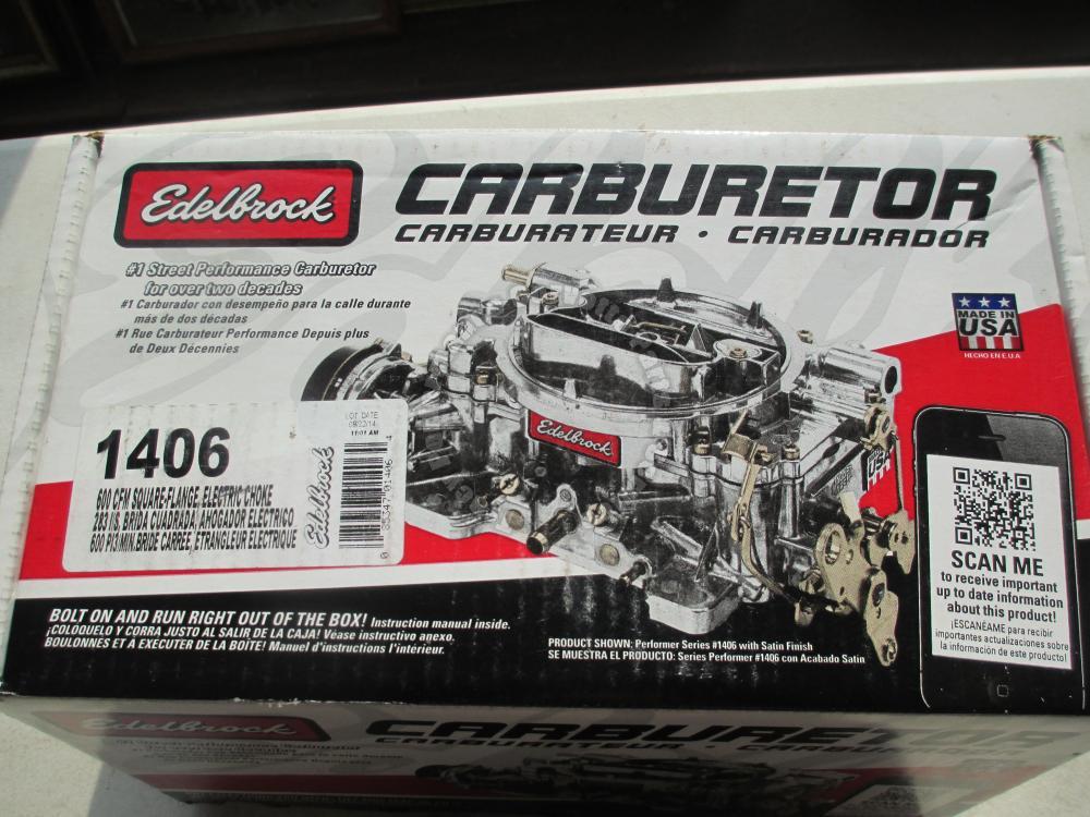 1955 86 new edelbrock model 1406 performance 600 cfm edelbrock carb owners manual edelbrock carburetor owner's manual