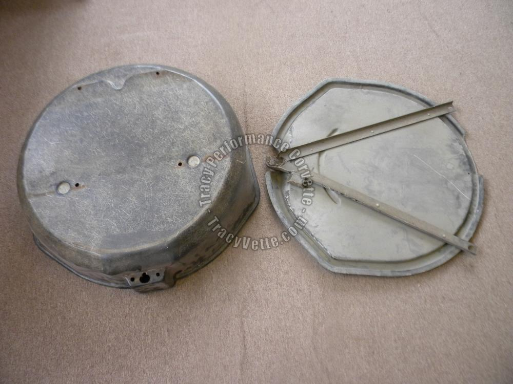 1963-67 Corvette Used Original Spare Tire Carrier & Lid, Driver Quality 64 65 66