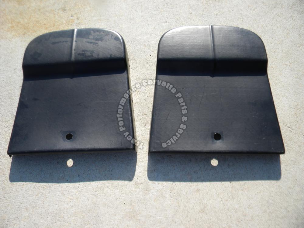 1965-1966 Corvette Used Original Survivor Black Seat Backs/Pair Moulded Plastic