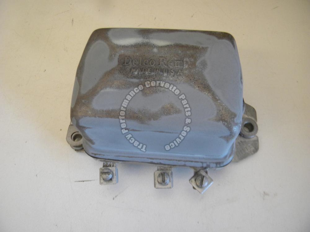 1956-1962 Corvette Used Orig. 1119001 Delco Remy Voltage Regulator 2C Date Code