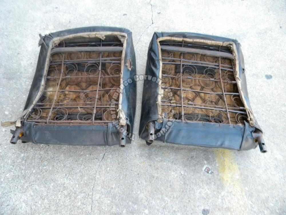 1961 1962 Corvette Used Original Seat Back Frames W