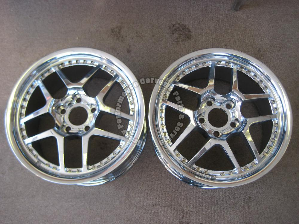 1997-2004 C5 Corvette Used Z06 Motorsport Chromed Wheels 18 x 10.5 97 98 99-2004