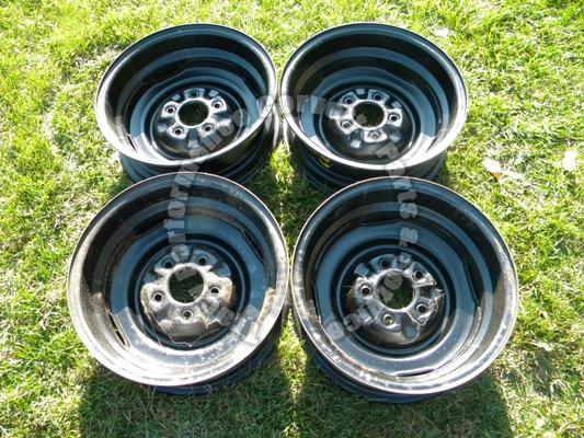 "1965 1966 Corvette Used Original 3869156 15""x5.5 Wheels Rims/4 Steel Disc Brake"