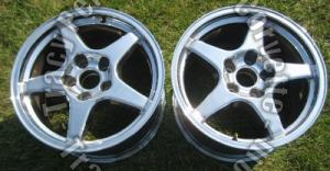 "1988 89 90 91 92 93 94 95 96 C4 Corvette Chrome 5 Spoke ZR1 17 x 11"" Wheels / 2"