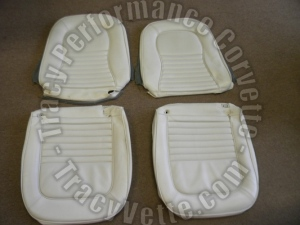 1967 67 Corvette Used Survivor Vinyl Seat Covers-White
