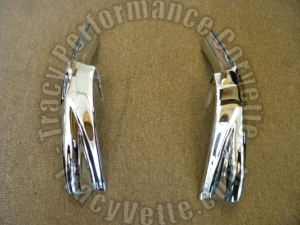 1970 1971 1972 Corvette 3963127 3963128 Rechromed Bumper Guards, Bumperettes/Pr.