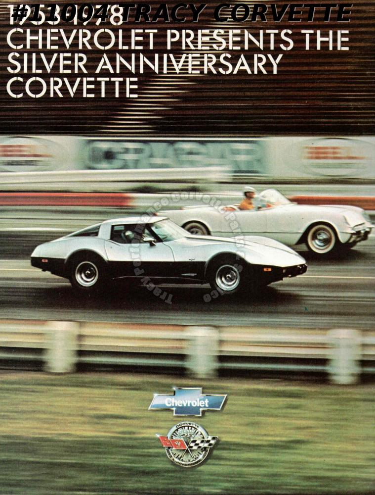 Original 1978 SILVER ANNIVERSARY CORVETTE BROCHURE 25 Years Litho USA July 1977