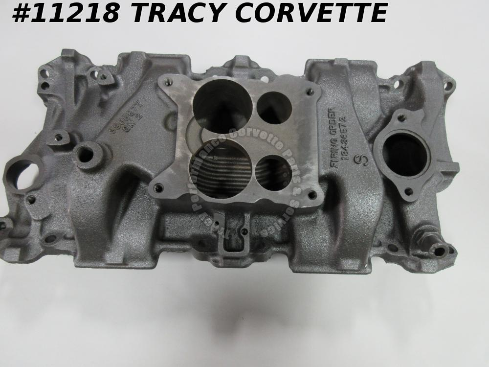 1970 Corvette 3965577 SB Q-Jet Iron Intake w/350 CID 4 BBL Several Date Choices