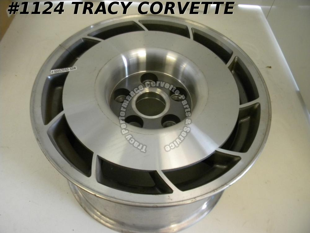 "1987 87 Corvette NOS 10052093 Wheel 16"" x 9.5"" LH Grey Center 4.75"" BC Rear Gray"