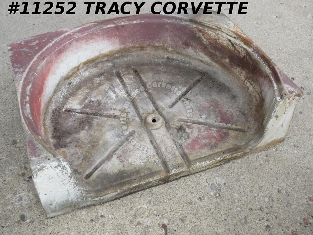 1956-1962 Corvette Floor Spare Tire Carrier Original 1957 1958 1959 1960 1961