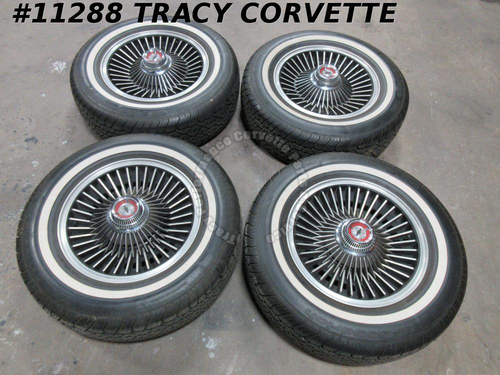 "1967 Corvette Used 15""x6"" Bolt On Aluminum 4 Wheel Set w/Centers/Hardware (N89)"