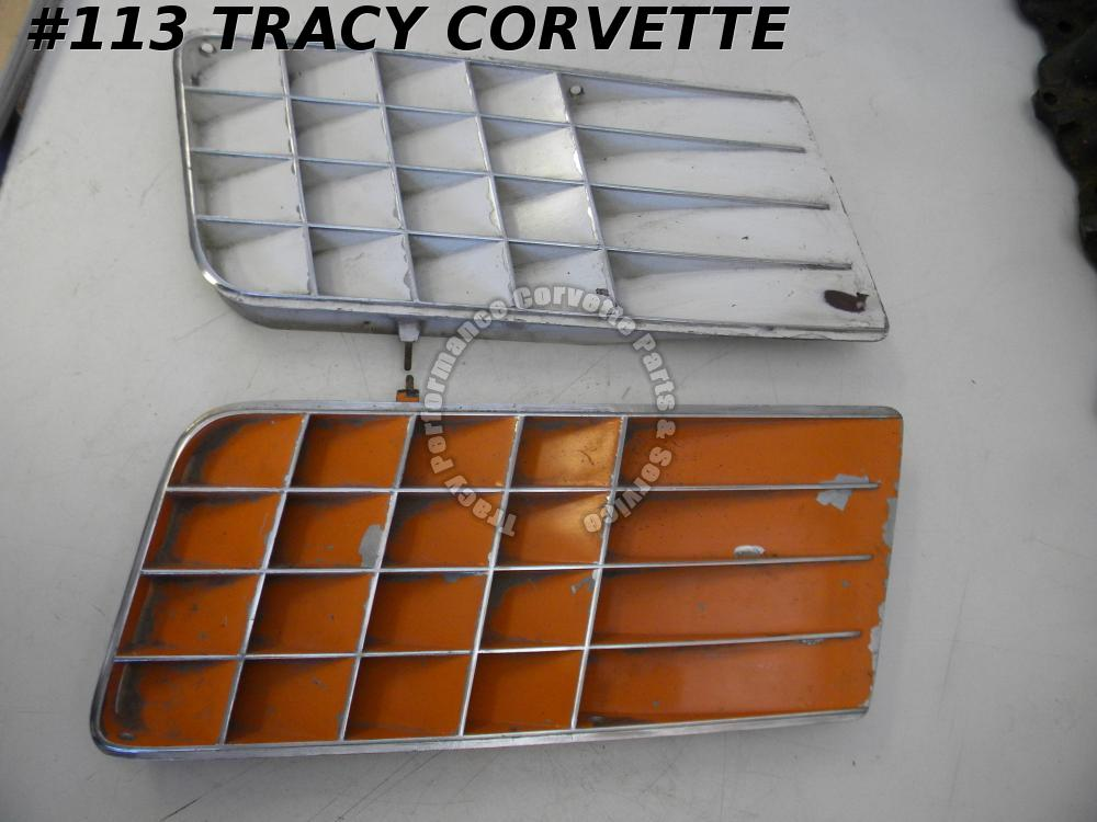 1970 Corvette Original 3966797 3966798 Side Louvers/Pr