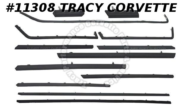 1985-1990 Corvette Body Side Molding Kit Complete Car 13 pieces mouldings