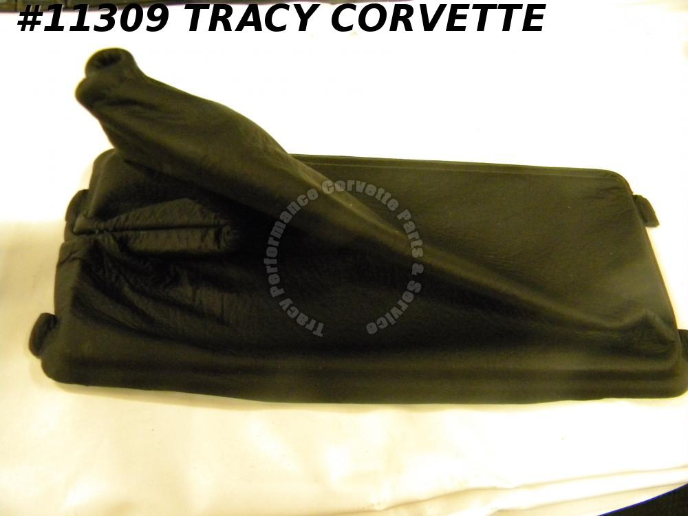 1990-1996 Corvette Automatic Shifter Boot Black Leather New Repro 10175792