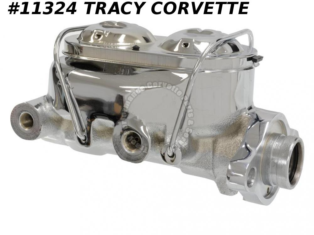 "1977-1982 Corvette Master Cylinder Tuff Stuff Chrome Power Brake 1 1/8"" Bore"