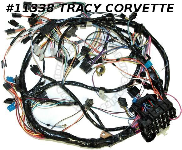 1981 Corvette IP Wire Harness w/ AT Instrument Panel Main Dash Wiring