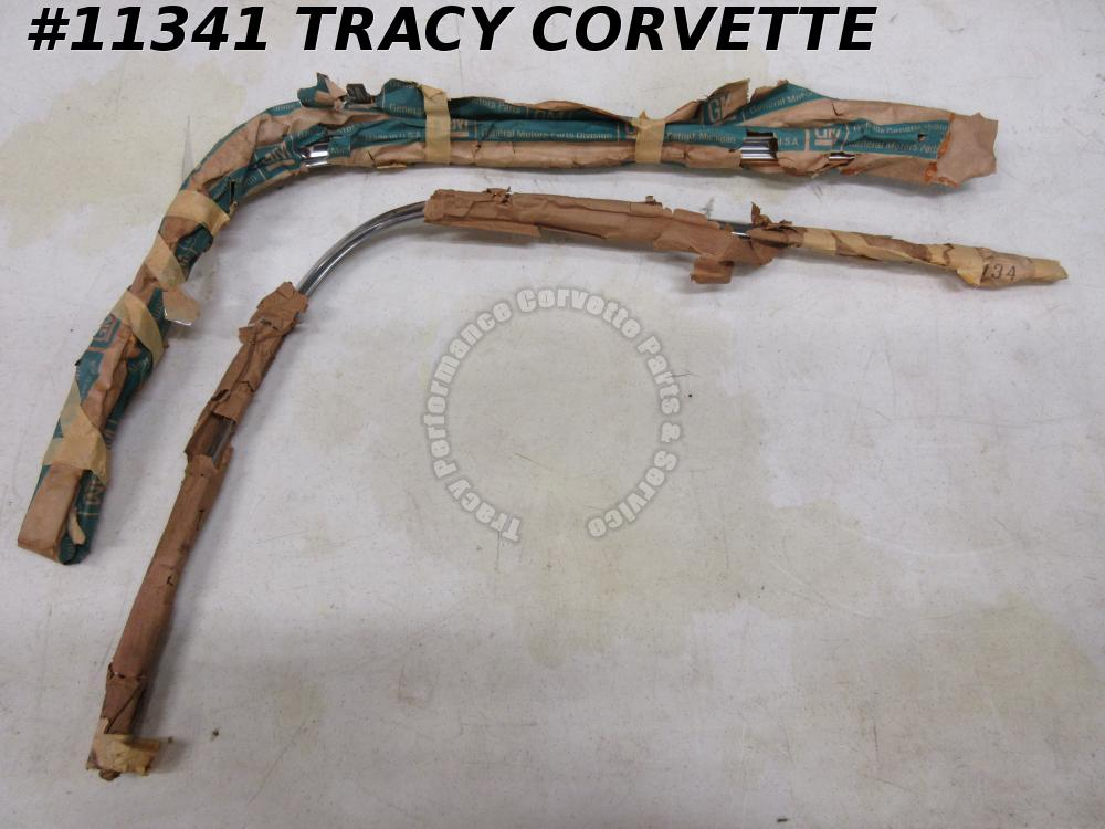 1963-1967 Corvette NOS 3827179 3827180 Cv. HardTop Upper Back Window Molding/Pr