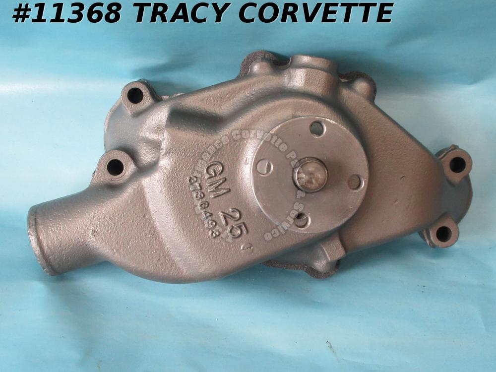 1958-1960 Corvette Water Pump GM# 3736493 Rebuilt Flint no date - Tonawanda Date