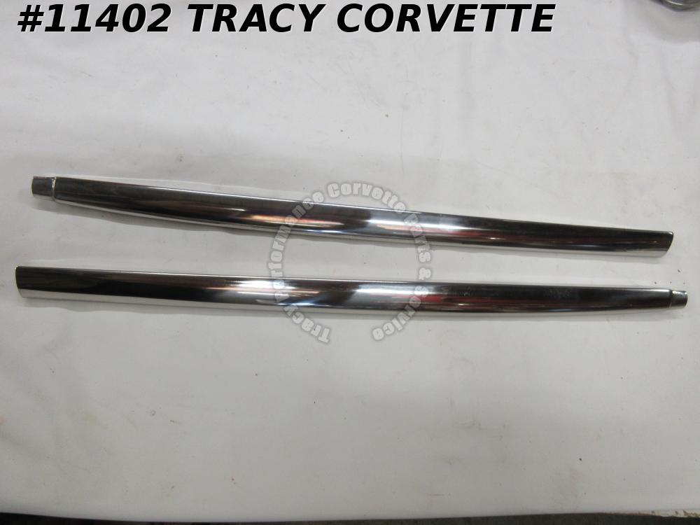 1956-1958 Corvette GM# 3716373 3716374 Outer Reveal Molding on Door (Pair)