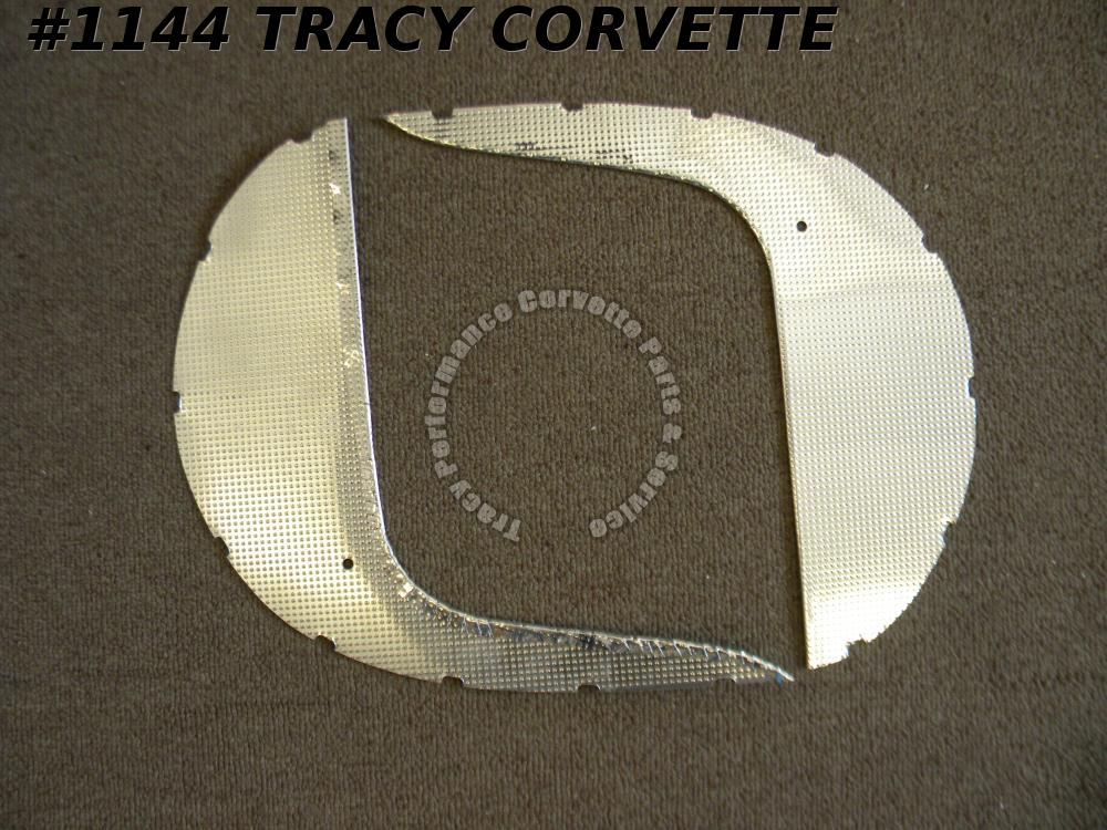 1960 Corvette Reproduction 3770023 3770024 Cowl Side Trim Plate Reinforcement/Pr