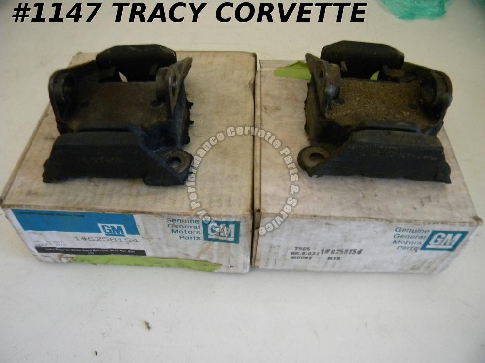 1970-1982 Corvette NOS 6258154 Engine Mounts/Pair Fits Other Yrs and Models Also
