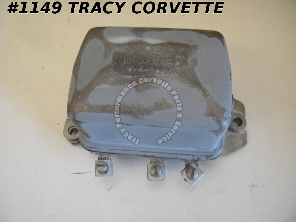 1956-1962 Corvette Used Orig. 1119001 Delco Remy Voltage Regulator 2C Date Code