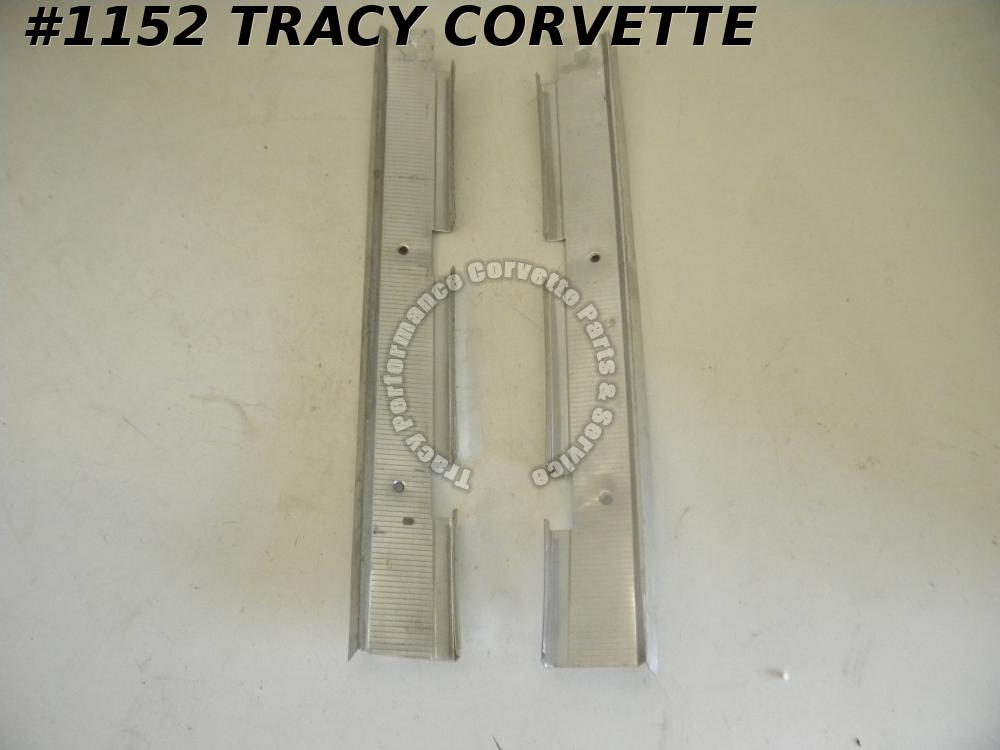 1963 Corvette Used Orig 3823339 3823340 Shifter Console Extension Runner Plates