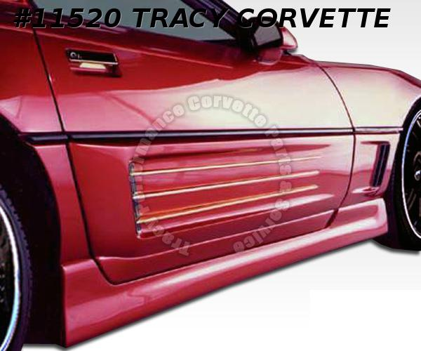 1991-1996 Corvette New Aerotech Custom Finned Door Kit w/Alum Bars & Grille/Pair
