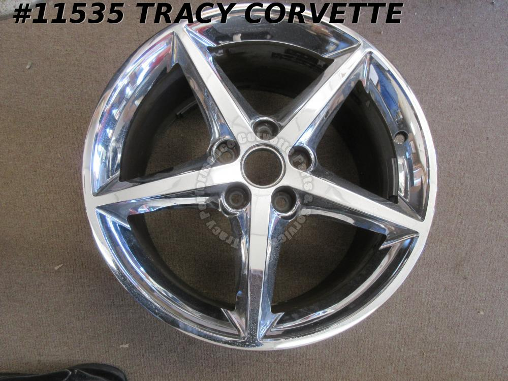 2011-13 Corvette Used 9598120 5 Spoke Wheel wo/Center Cap 19x10 79 mm 11 12 2013