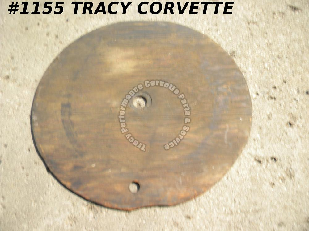 1961-1962 Corvette Spare Tire Board without Cushions Label Cup Original 3779864