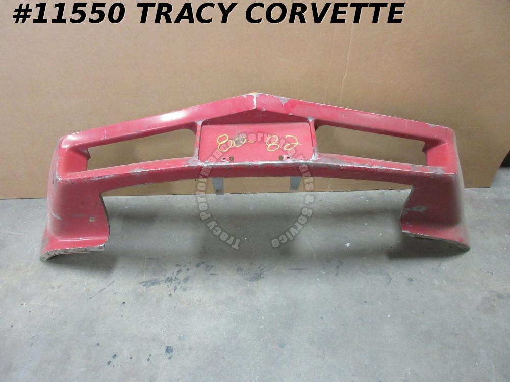 1980-1982 Corvette Bumper Cover 14041156 Urethane Fascia Original Front Flex Red