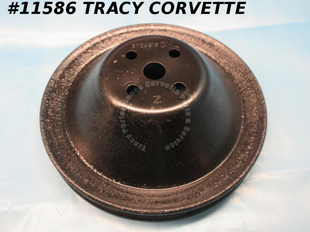 1958-62 1966 Corvette Refurbished Orig 3724816 Deep Groove Fan/Water Pump Pulley