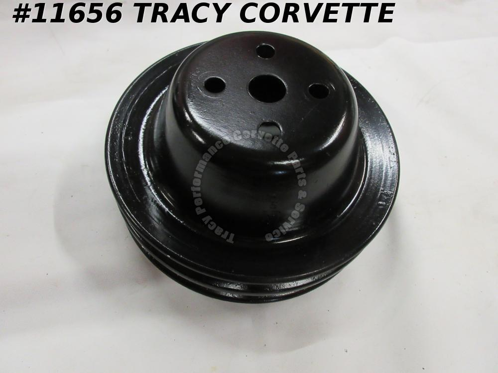 1966-1970 Corvette Refurb Orig 3995641 CS Fan Water Pump Pulley Double Groove