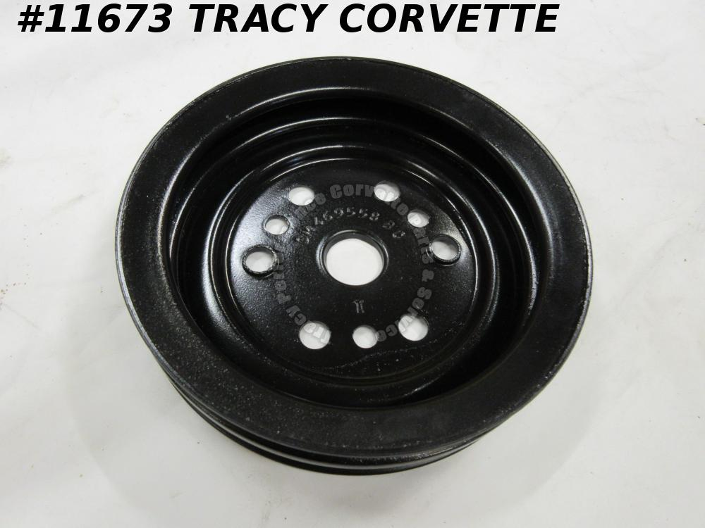 1975-1982 Corvette Refurbished Orig. 469558 2 Groove Crankshaft Pulley, Lower