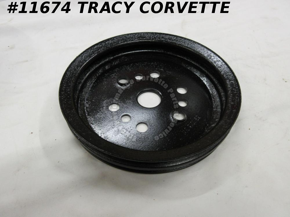 1968-1974 Corvette Refurbished Orig. 3911013 2 Groove Lower Crankshaft Pulley