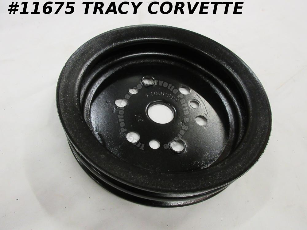 1975-77 Corvette Refurbished Orig 346300AA 2 Groove Crankshaft Pulley Lower w/AC
