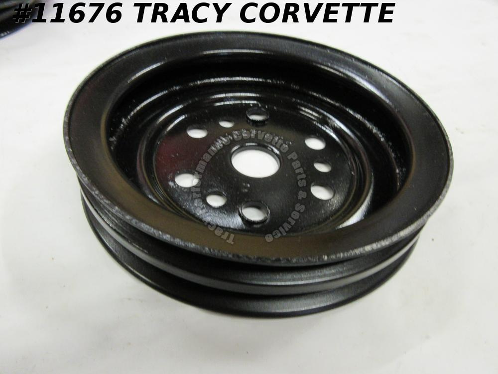 1975-1982 Corvette Refurbished Orig. 14023151CS 2 Groove Lower Crankshaft Pulley