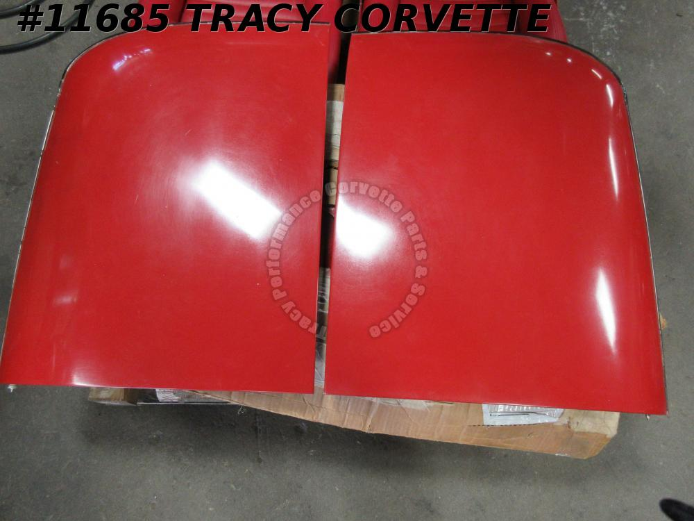1979-1982 Corvette Used Original Red Fiberglass T-Tops 79 1980 80 1981 81 82
