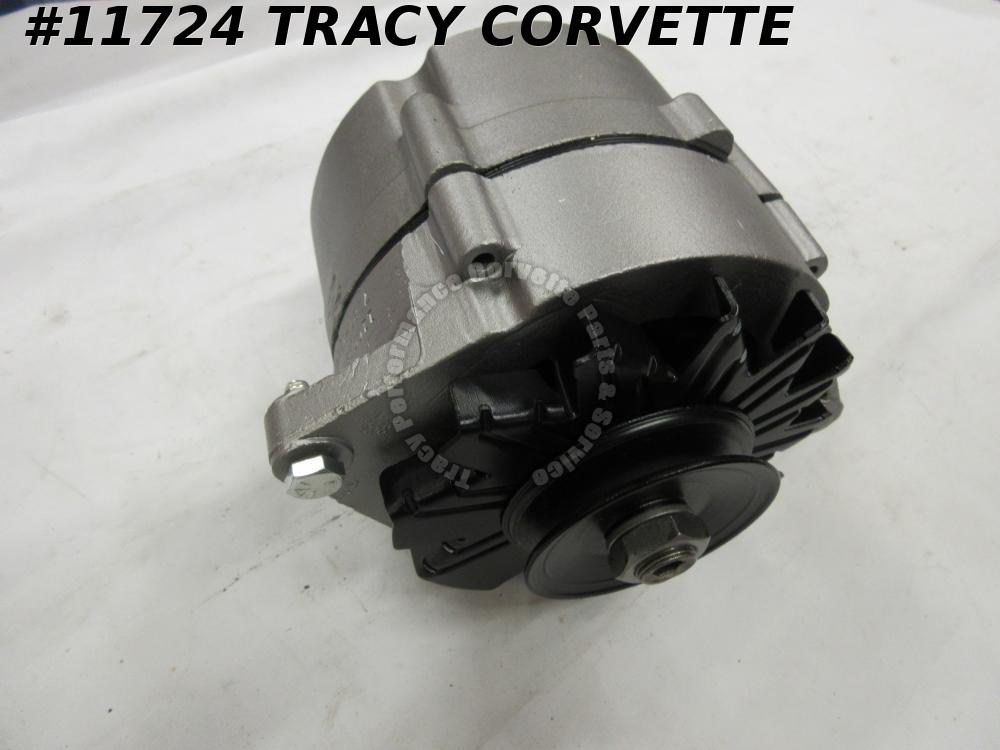 1965-1968 Corvette Original Rebuilt 1100696 42 Amp Alternator Dated 7 C 27