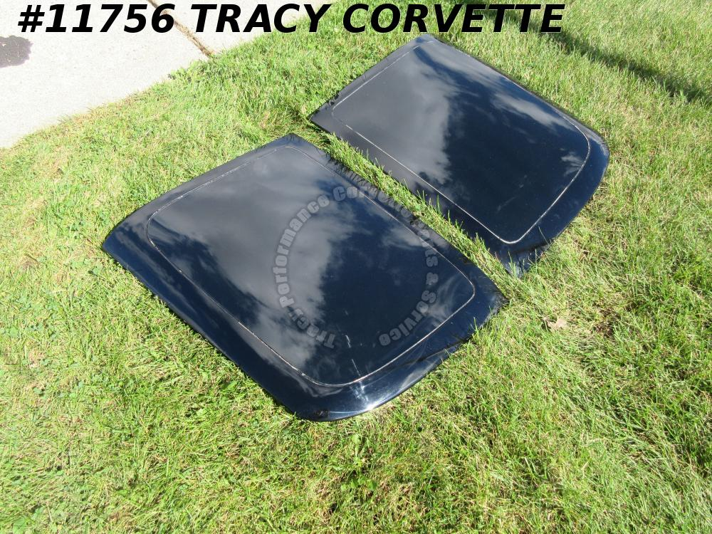 1968-1977 Corvette Slightly Used LOF Glass Moon Roofs w/the Painted Border Area