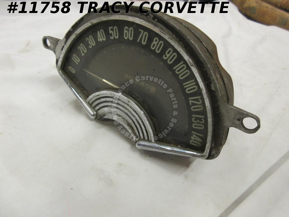 1953-1957 Original Used Corvette 1582936 AC Speedometer Gauge Assembly Dated 57