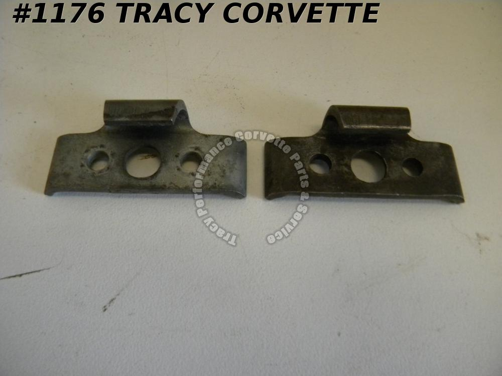 1963-67 Corvette Orig 3820406 Conv Top/HT RR Bow Locking Clamps Latch Retainer/2