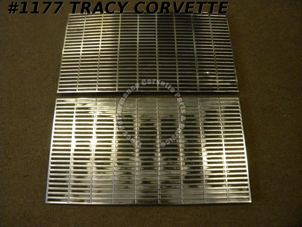 1963 63 Corvette RARE Survivor 3837360 Hood Grille Inserts Cookie Sheets/Pair