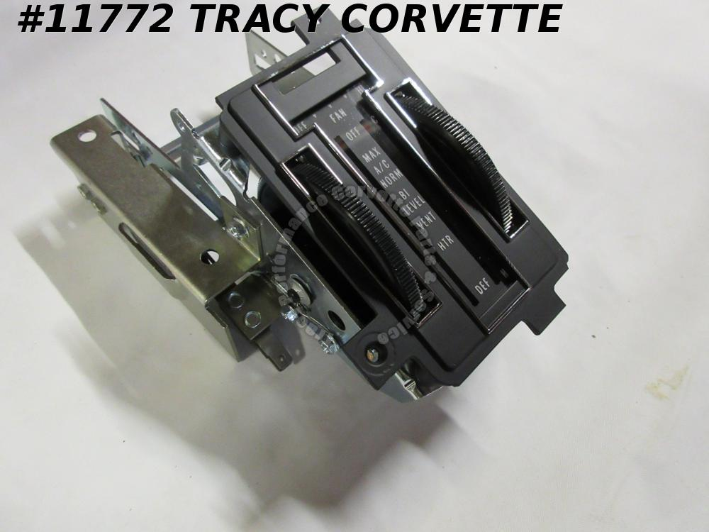 1972-1975 Corvette New Repro 6262642 Heater Control Unit with AC 72 73 74 75