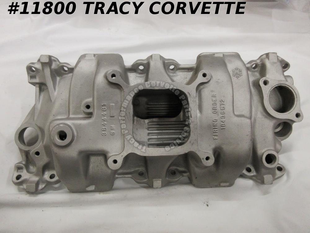 1964-65 Corvette Used 3844461 Al Holley High Rise Intake Manifold Plenum Cut Out