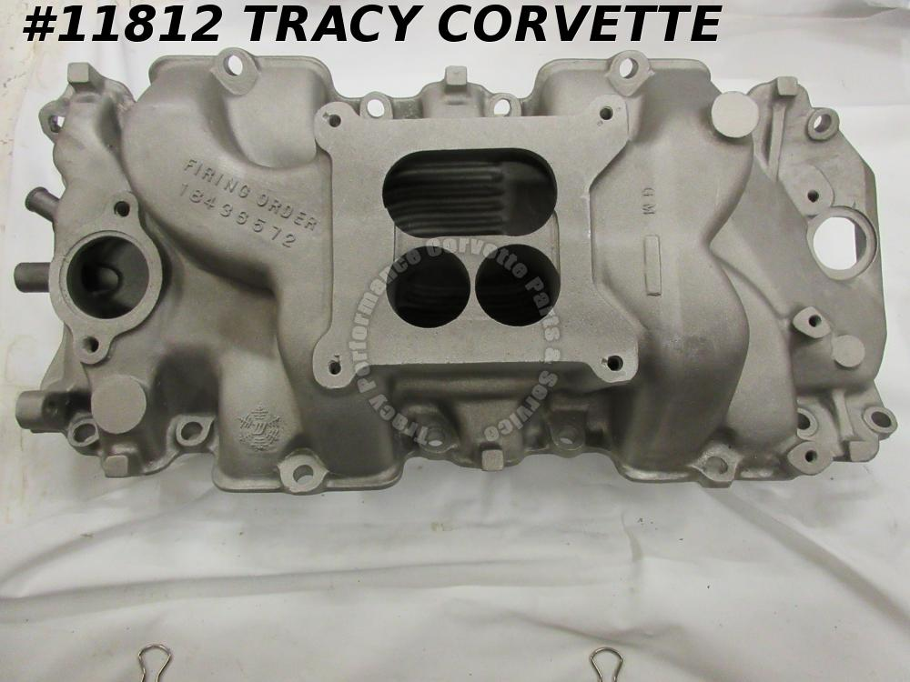 1965 Corvette Used 3866963 Alum Holley High Rise Intake Manifold Dated 5/17/65